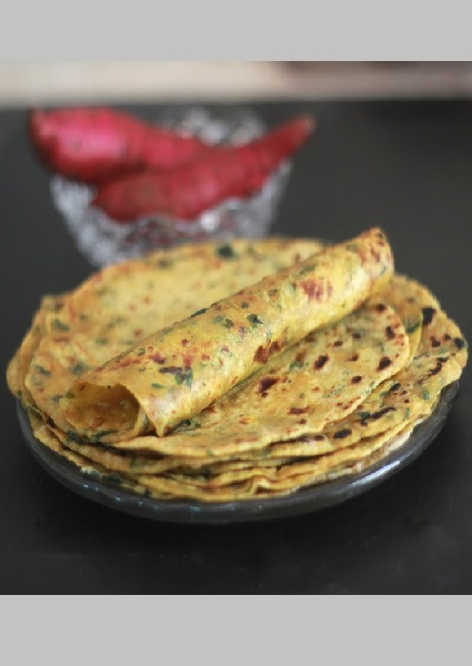 Sweet Potato & Spinach Roti image