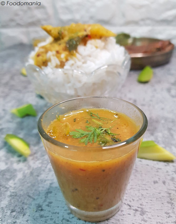 Raw Mango Sambar Recipe by Foodomania