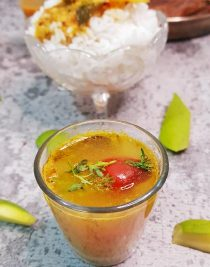 Raw Mango Rasam Recipe - Foodomania
