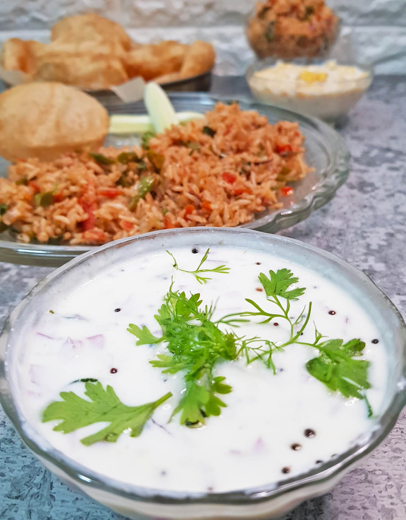 Onion Raita with Tadka image